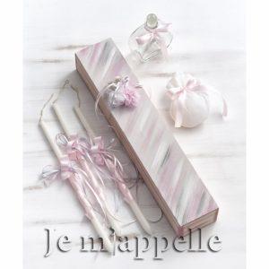 Λαδοσέτ μπαλαρίνα σε λευκό ροζ και γκρι