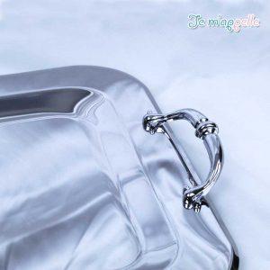 Δίσκος γάμου ανοξείδωτος με επάργυρά καμπυλωτά χερούλια