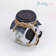 Μπομπονιέρα βαζάκι με φελό και θέμα βάπτισης μικρός κύριος