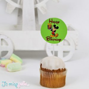 Cupcake toppers με θέμα Mickey mouse 2