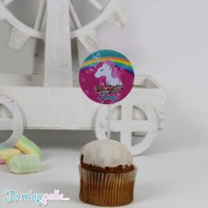 Cupcake toppers με θέμα μονόκερος