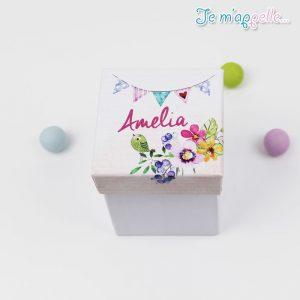 Μπομπονιέρα-νκουμπωτό-κουτί-με-θέμα-βάπτισης-λουλούδια