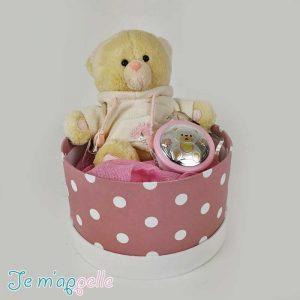 Δώρο για νεογέννητο ασημένιο φωτάκι νυκτός & λούτρινο αρκουδάκι