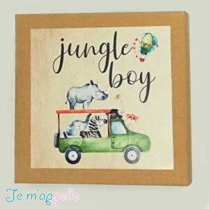 Μπομπονιέρα παιδική παζλ σε κουτάκι με τα ζωάκια της ζούγκλας