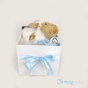 Δώρο για νεογέννητο πιπιλοπιάστρα ασημένια και αγγελάκι γούρι