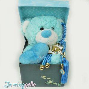 Δώρο για νεογέννητο γούρι πατουσάκια και λούτρινο αρκουδάκι
