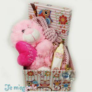 Δώρο για νεογέννητο μπιμπερό γούρι και λούτρινο αρκουδάκι
