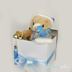 Δώρο για νεογέννητο αγοράκι επάργυρη κουδουνίστρα