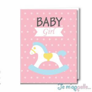 Ευχετήρια κάρτα carousel για κοριτσάκι