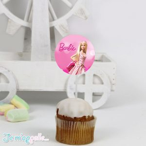 Cupcake toppers με θέμα Barbie