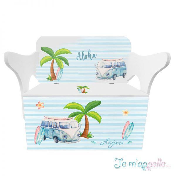 Κουτί βάπτισης με τύπωση & aloha
