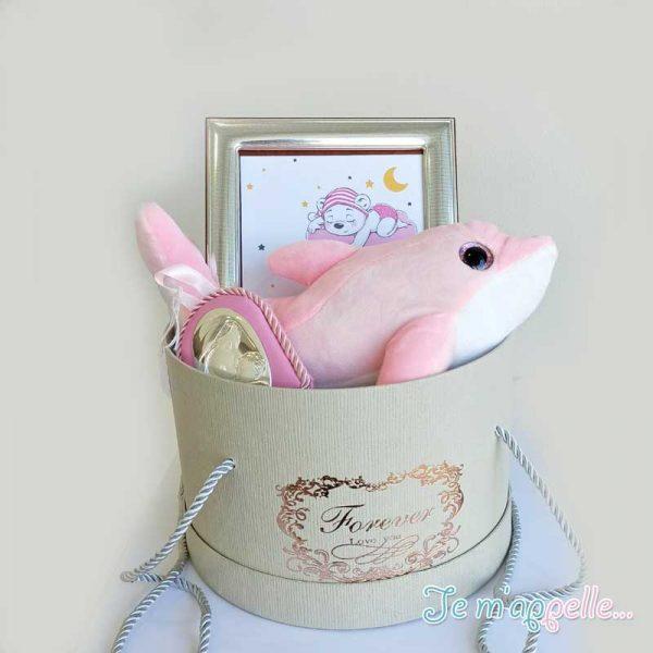 Δώρο για νεογέννητο κοριτσάκι ασημένια εικόνα , κορνίζα και λούτρινο