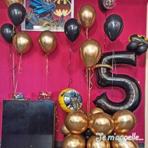 Σύνθεση απο μπαλόνια για πάρτυ Batman