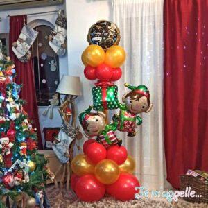 Σύνθεση απο μπαλόνια Merry Christmas