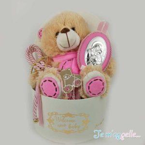Δώρο για νεογέννητο ασημένια εικόνα με επάργυρο γούρι