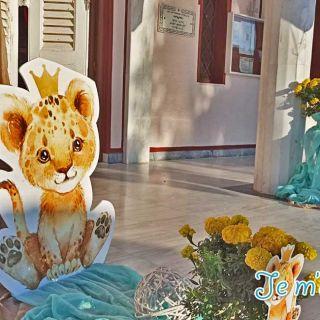 Στολισμός βάπτισης λιονταράκι ΙΝ Αγίου Νικολάου Γλυφάδα