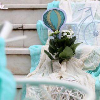 Στολισμός & candy bar βάπτισης με θέμα αερόστατο στον ΙΝ Αγίας Τριάδας Βύρωνα