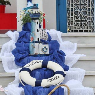 Στολισμός θαλασσινός και πλήρες candy bar στον ΙΝ Αγίου Γεωργίου Αργυρούπολης
